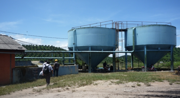 View of Raw Water Treatment Plant in Palm Oil Mill